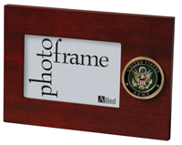 army photo frame with medallion holds 4 x 6